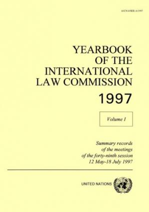 书籍封面 Yearbook of the International Law Commission 1997, Volume 1