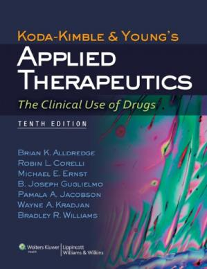 Book cover Koda-Kimble and Young's applied therapeutics: the clinical use of drugs