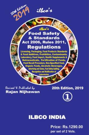 Couverture du livre ILBCO's Food Safety and Standards Act, 2006 and Rules, 2011 Part 1
