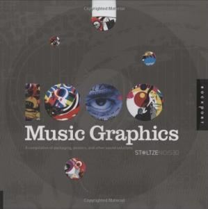 Book cover 1,000 Music Graphics: A compilation of packaging, posters, and other sound solutions