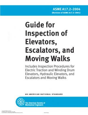 书籍封面 ASME A17.2 Guide for Elevator Inspection