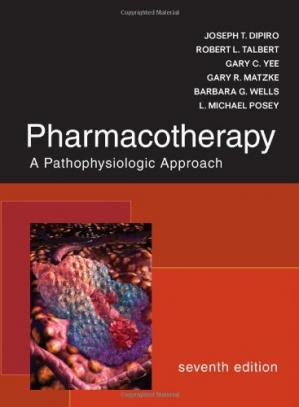 पुस्तक कवर Pharmacotherapy: A Pathophysiologic Approach, 7th edition