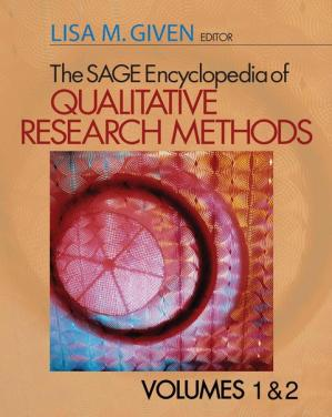 Book cover The SAGE Encyclopedia of Qualitative Research Methods, Volumes 1& 2