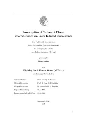Book cover Investigation of Turbulent Flame Characteristics via Laser Induced Fluorescence