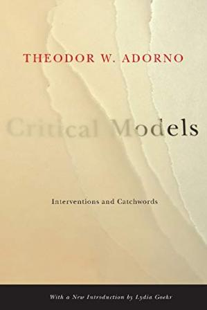 Book cover Critical Models: Interventions and Catchwords