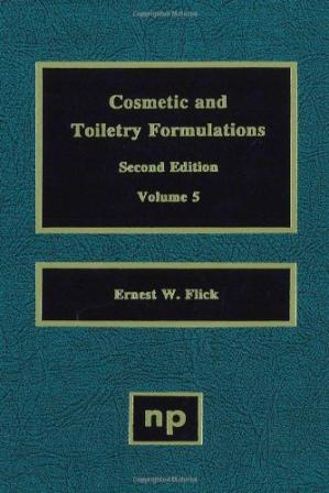 Обкладинка книги Cosmetic and Toiletry Formulations, Volume 5