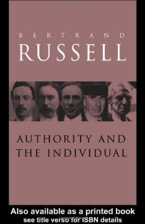 Copertina Authority and the individual