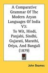 Couverture du livre A Comparative Grammar of Modern Aryan Languages of India
