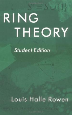 Book cover Ring Theory (Student Edition)
