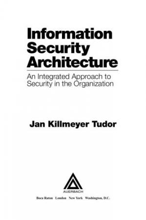 Book cover Information Security Architecture