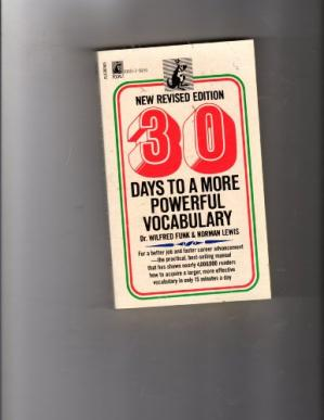 Book cover 30 Days To A More Powerful Vocabulary