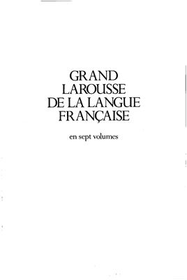 书籍封面 Grand Larousse de la langue française. Tom 2 (CIR-ERY)