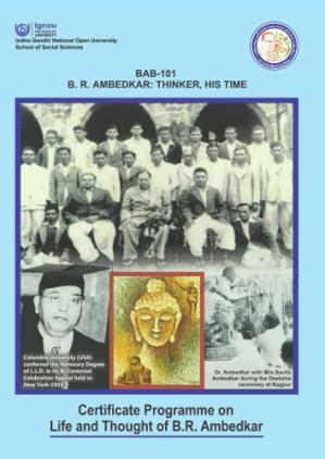 Book cover Certificate Programme on Life and Thought of B.R. Ambedkar (CLTA)