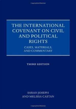 Обкладинка книги The International Covenant on Civil and Political Rights: Cases, Materials, and Commentary