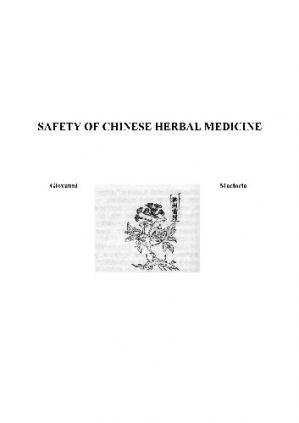 Book cover Safety of Chinese Herbal Medicine