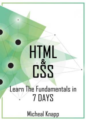 Book cover HTML and CSS.  Learn The Fundamentals In 7 days