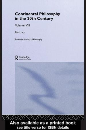 Sampul buku Routledge History of Philosophy. 20th Century Continental Philosophy