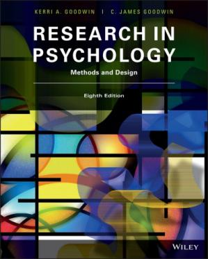 Book cover Research In Psychology: Methods And Design