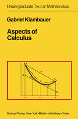 Book cover Aspects of Calculus