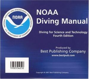 Book cover NOAA Diving Manual, Fourth Edition
