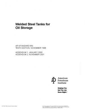 Book cover Welded Steel Tanks for Oil Storage, 10th Edition