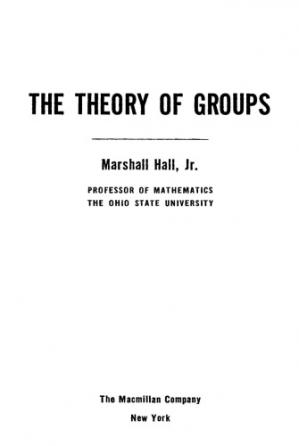 Couverture du livre The Theory of Groups