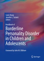 Copertina Handbook of Borderline Personality Disorder in Children and Adolescents