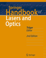 Book cover Springer handbook of lasers and optics