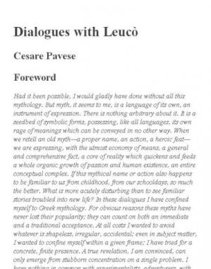 Book cover Dialogues with Leucò