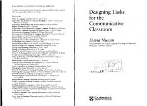 Book cover Designing Tasks for the Communicative Classroom