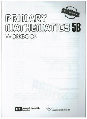 A capa do livro Singapore Math 5B Workbook
