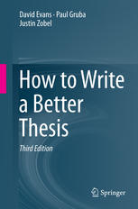 Book cover How to Write a Better Thesis