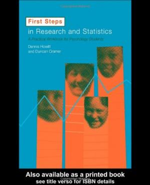 Okładka książki First Steps In Research and Statistics: A Practical Workbook for Psychology Students