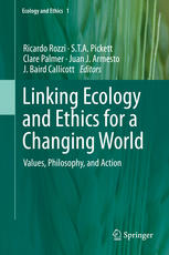 Couverture du livre Linking Ecology and Ethics for a Changing World: Values, Philosophy, and Action
