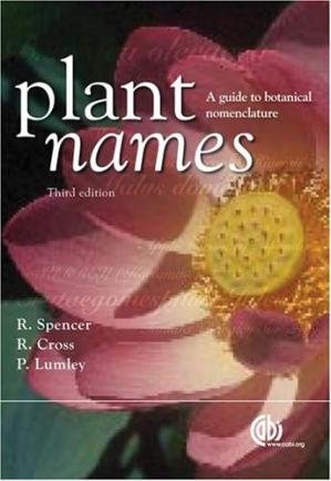 Обложка книги Plant names : a guide to botanical nomenclature
