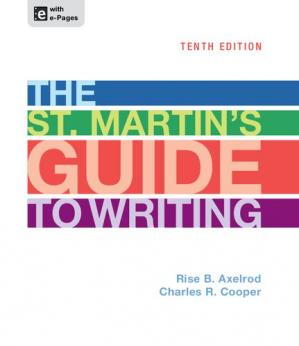 Book cover The St. Martin's guide to writing