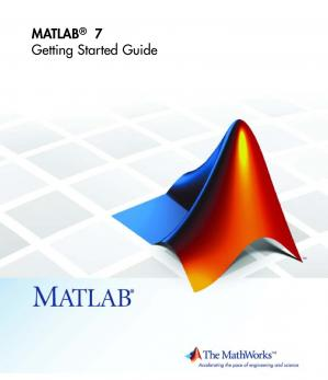 Book cover Getting Started with MATLAB 7 & Other Guides