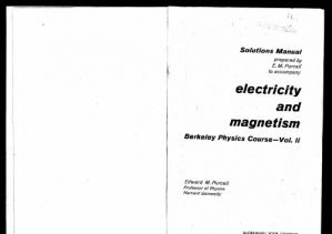 Okładka książki Berkeley physics course. Vol 2, Solutions manual to accompany 'electricity and magnetism'.