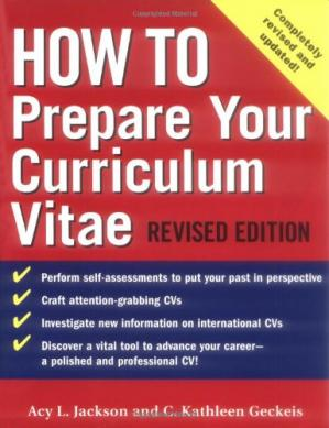 Book cover How to prepare your Curriculum Vitae