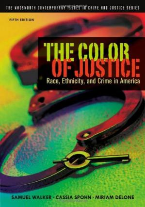 La couverture du livre The Color of justice : race, ethnicity, and crime in America