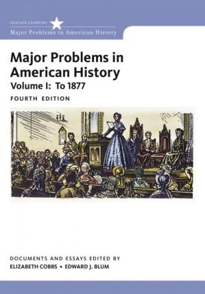 غلاف الكتاب Major Problems in American History - Volume I: To 1877