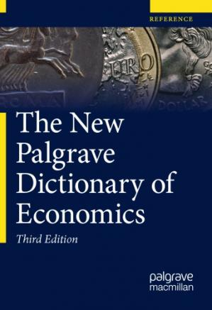 Book cover The New Palgrave Dictionary of Economics