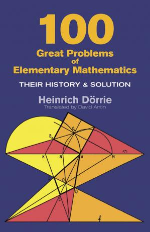 Copertina 100 great problems of elementary mathematics: their history and solution