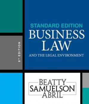 Book cover Business Law and the Legal Environment, Standard Edition