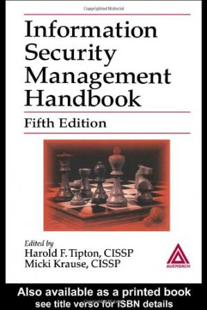 د کتاب پوښ Information security management handbook