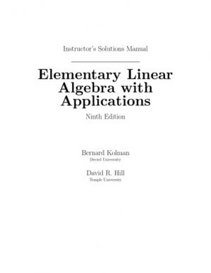 Buchdeckel Instructor's Solutions Manual for Elementary Linear Algebra with Applications, 9th Edition