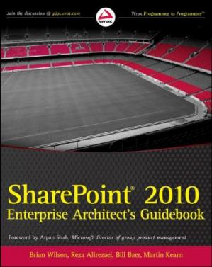 Book cover SharePoint 2010 Enterprise Architect's Guidebook
