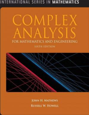 Book cover Complex Analysis for Mathematics and Engineering