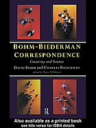 书籍封面 Bohm-Biederman correspondence. Vol. 1: Creativity and science