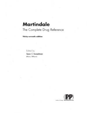 Buchdeckel Martindale. The complete drug reference